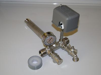 "STAINLESS 1""x11"" TANK TEE KIT WATER WELL PRESSURE TANK PUMP 4060 SQUARE D SWITCH"