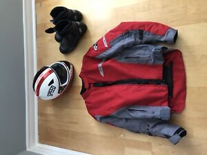 Motorcycle jacket / helmet and boots