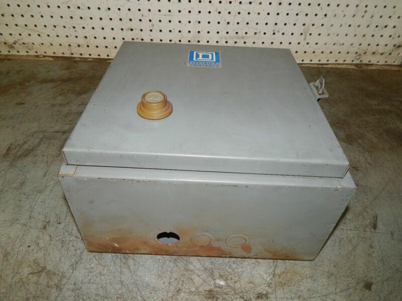 Square D Electrical Controls size 00 starter in enclosure 8736SAG16 8736-SAG16