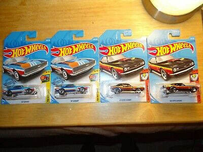 Lot 4 2019 Hot Wheels 67 68 COPO CAMARO Regular Treasure Hunt Walgreens Color