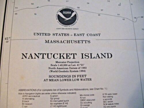 NAVIGATIONAL MAP - NANTUCKET SOUND - MA - # 13241