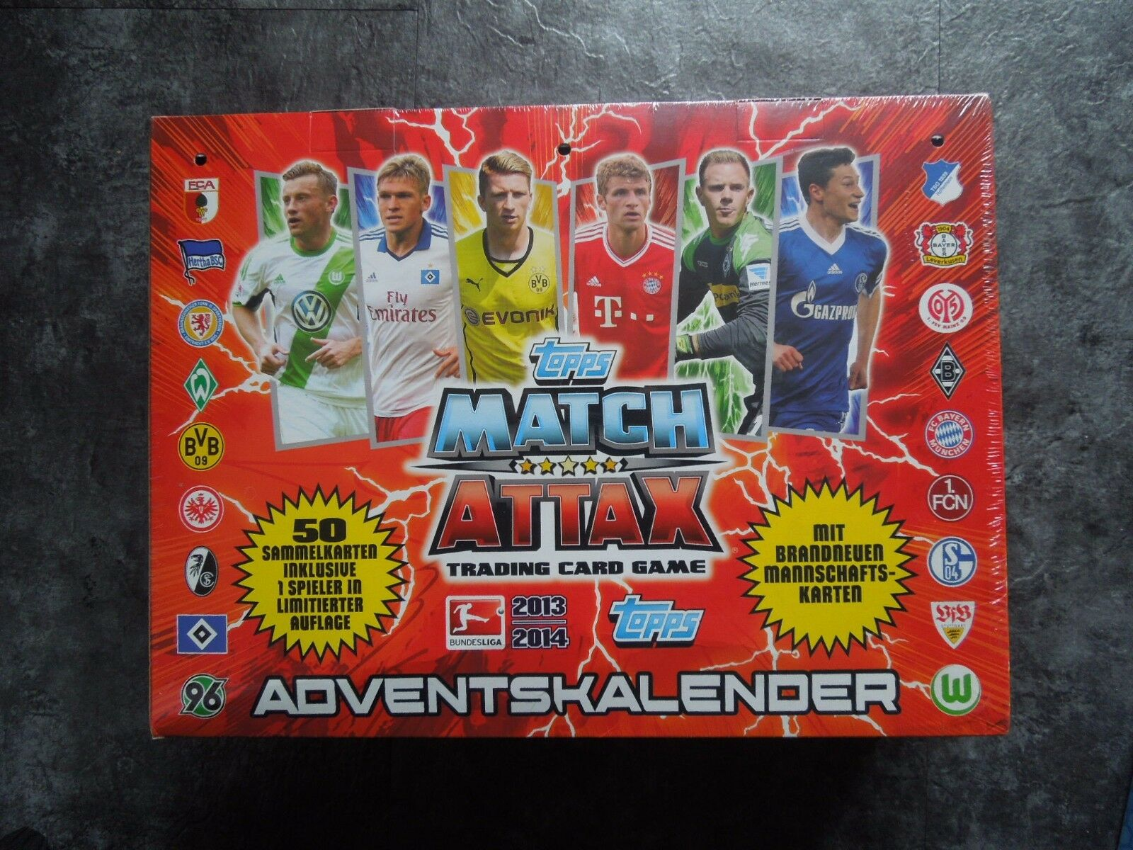 Match Attax Weihnachtskalender.Match Attax 1617 Adventskalender4 Mini Tins20 Booster