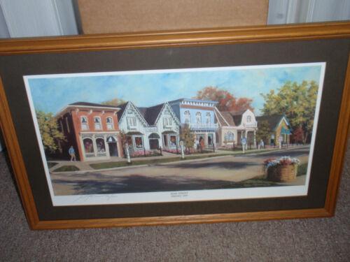 "Longabergered - Framed Print of ""Main Street Dresden Ohio"", PRE-OWNED!!!"