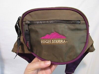 "HIGH SIERRA Olive Green Nylon Medium Size Fannie Waist Pack Bag 7""x6""x4"""