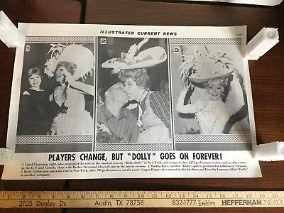Illustrated Current News Photo - Hello Dolly Carol Channing Streisand Gable