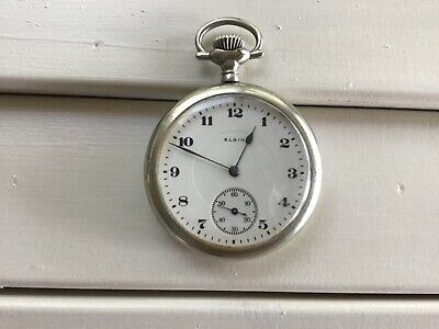 ELGIN POCKET WATCH 1919, 17 JEWELS, OPEN FACE