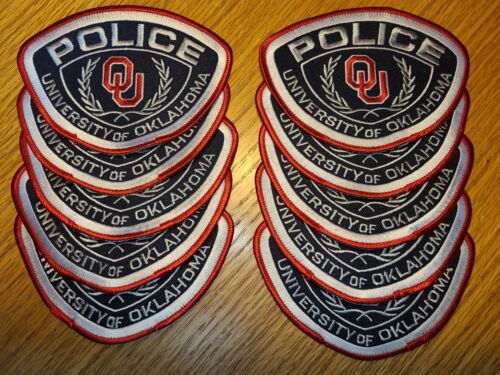 UNIVERSITY OF OKLAHOMA OK Trade Stock 10 Police Patches CAMPUS POLICE PATCH