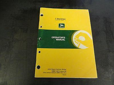 John Deere 7 Backhoe Operators Manual  Omm113912 G2