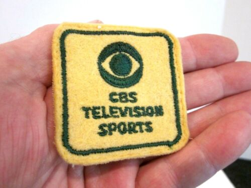 VTG EARLY CBS TELEVISION SPORTS PATCH, CIRCA 1950