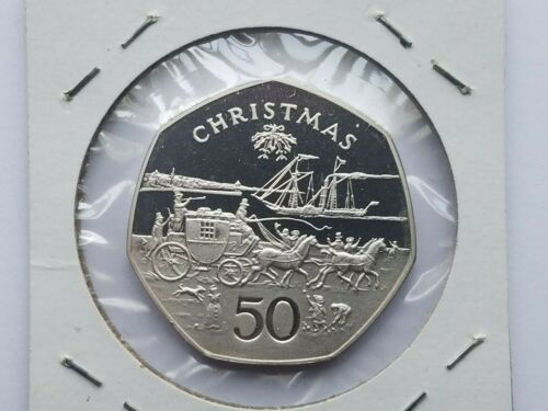 1980 ISLE OF MAN 50 PENCE SILVER PROOF