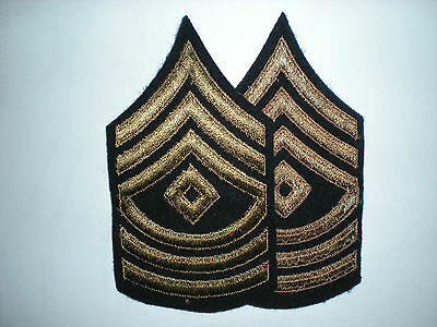US ARMY WWII FIRST SERGEANT STRIPES -ORIGINAL-- 1 PAIR Army Sergeant Stripes