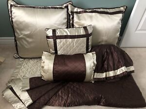 Queen Silk Quilted Bed Set