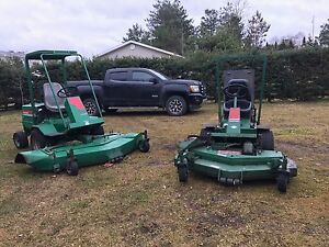 2 bobcat industrial mowers