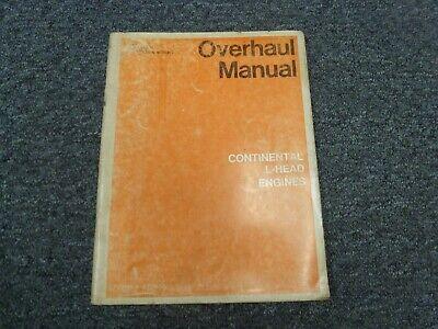 Continental F124 F135 F140 F162 F163 L Head 4 Cyl Engine Overhaul Service Manual