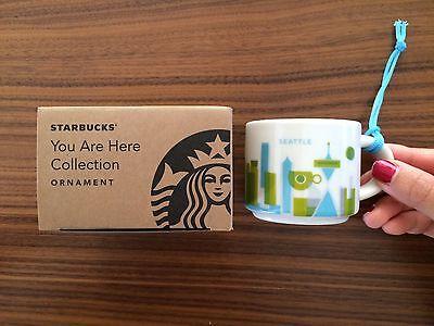 Starbucks You Are Here Seattle Ornament 2 oz Demi Cup Espresso YAH