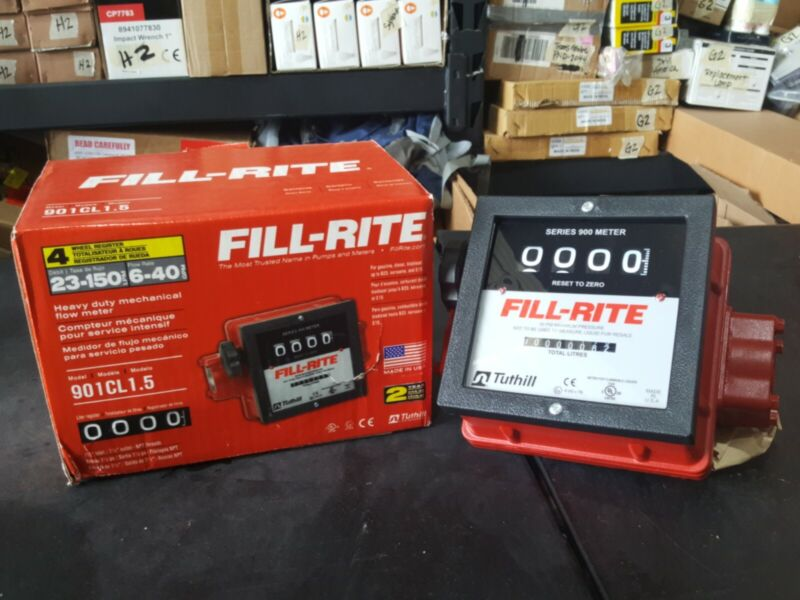 Fill-Rite 6-40GPM Heavy-Duty Mechanical Flow Meter 901CMK4200, Open box, J3