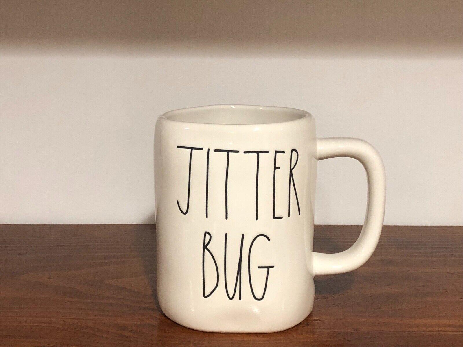 Rae Dunn Artisan Collection By Magenta Farmhouse LL Large Letter Coffee Tea Mug JITTER BUG