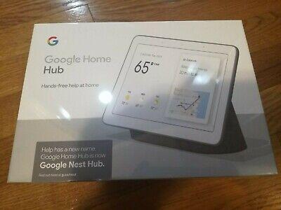 "Brand New Google Home Nest Hub 7"" Touchscreen Smart Assistants White Chalk"