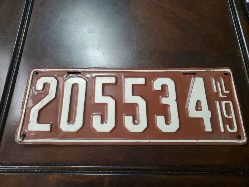 1919 Illinois License Plate # 205534 Repaint