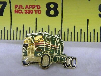 Tractor Trailer Hat Lapel and Back