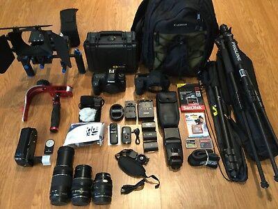 Canon EOS 5D Mark II 21.1 MP Digital SLR Camera,Flash,Grip,3Lens,W/MATTBOX+FOCUS
