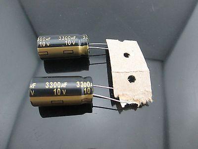 2 Japan Panasonic Fm 3300uf 10v 3300mfd Impedance Electrolytic Capacitors