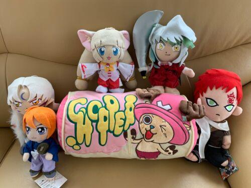 Anime Plush Set Rurouni Kenshin Inuyasha Sesshomaru Gaara Haiji Chopper Pillow