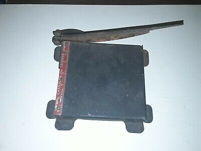 Vintage Chandler 6 Steel Film Paper Cutter Trimmer Works