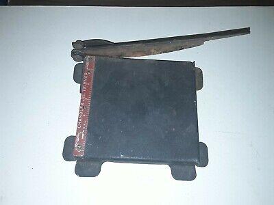 Vintage Chandler 6 Steel Film Paper Cutter Trimmer Works