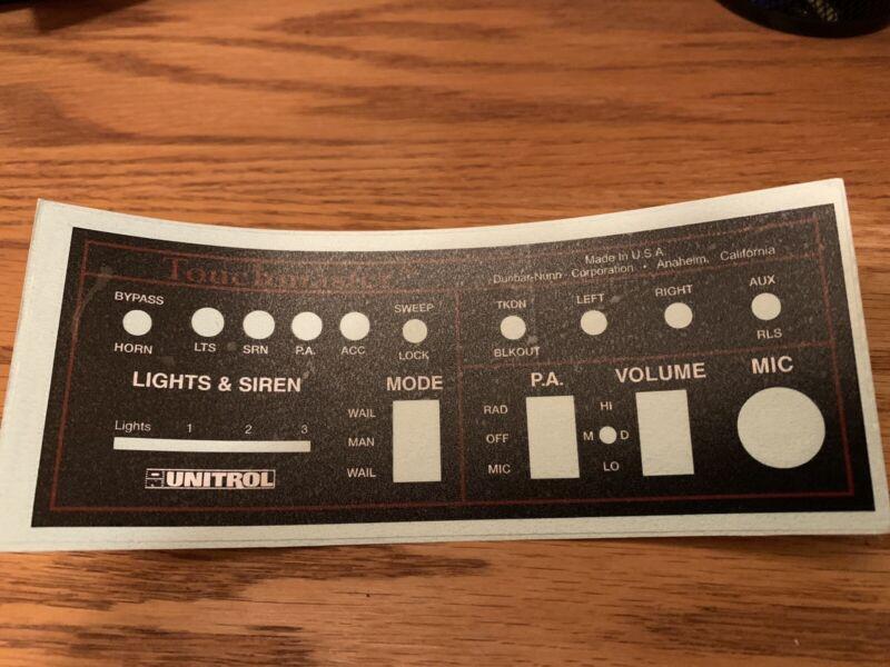 Unitrol Touchmaster TM4 Decal overlay
