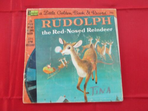 """1976 Disney 24Pg. Book & Record """"Rudolph the Red-Nosed Reindeer"""""""
