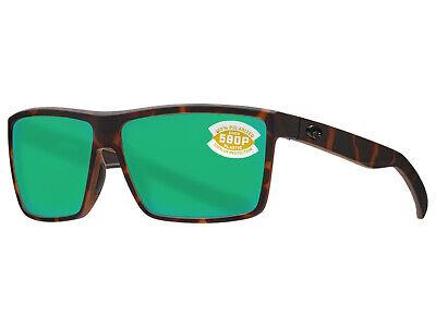 18924f695917d NEW Costa Del Mar RINCONCITO Matte Tortoise   580 Green Mirror Plastic 580P