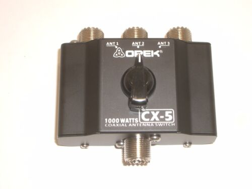 OPEK CX5 3 POSITION CB RADIO ANTENNA COAX COAXIAL SWITCH w/SO239 (ACCEPTS PL259)