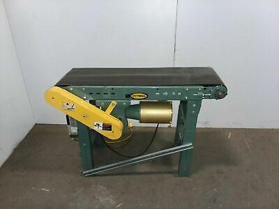 Hytrol 48 Slider Bed 13-12 Belt Conveyor Powerflex Drive Variable Speed 115v