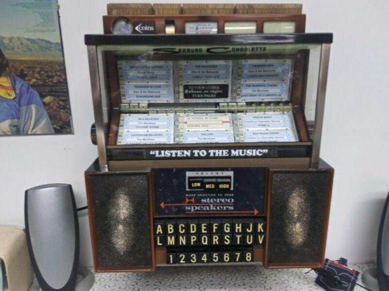 Seeburg Stereo Consolette Jukebox Wallbox MP3 Player Conversion - original paint