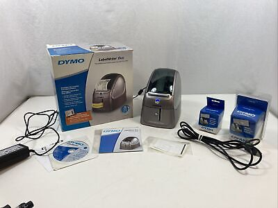 Dymo Labelwriter Duo 93105 Thermal Label Printer W Power Usb Labels