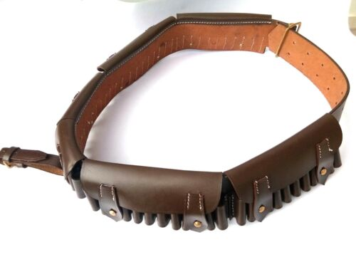"British Bandolier "" MARTINI-HENRY ""- Pre WWI BROWN Genuine Leather"