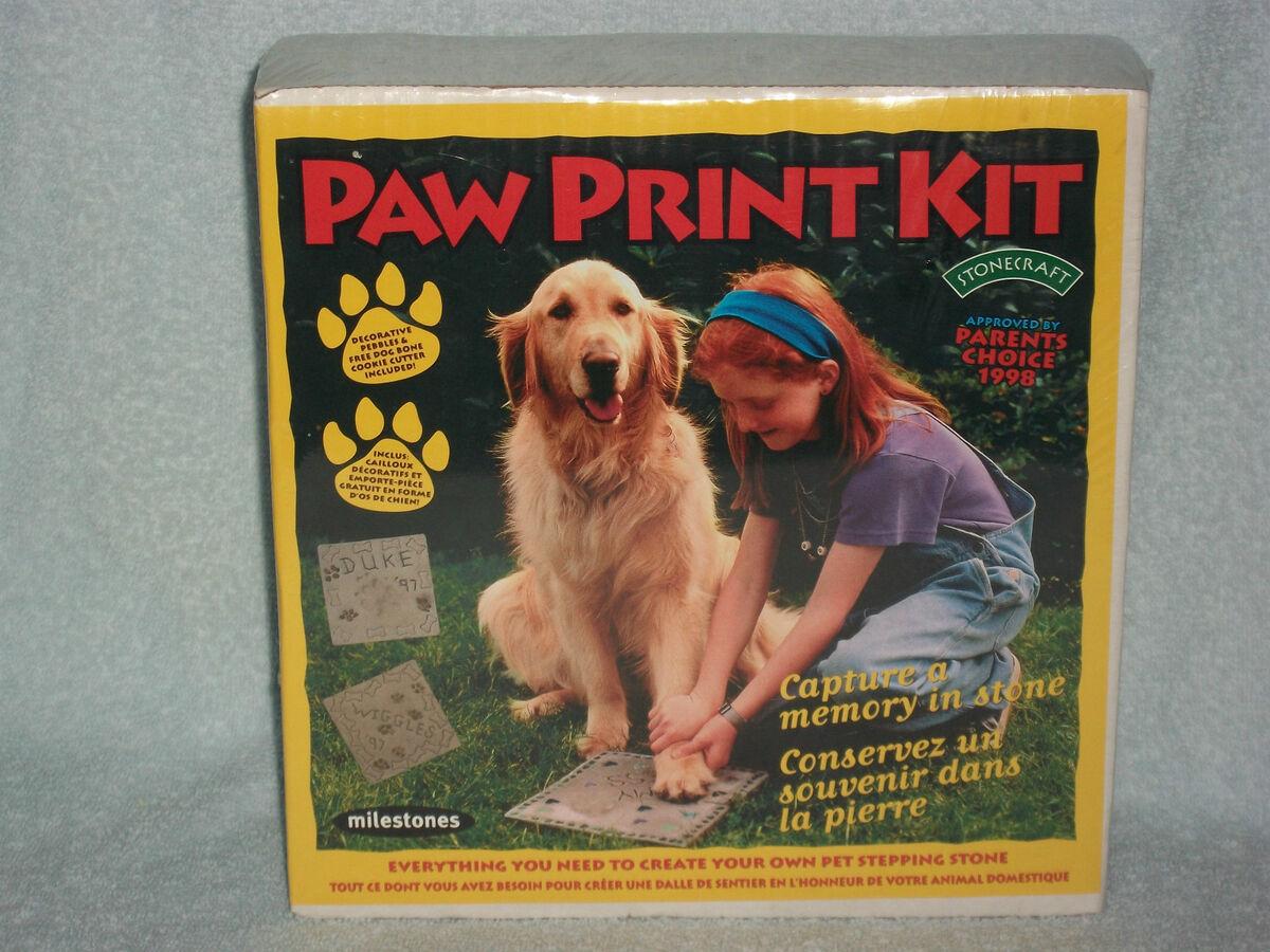 Paw Print Kit Personalized Family Memorial Pet Paver Stepping Stone Mosaic