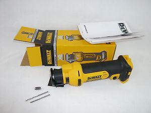 DeWalt 18V Akku Trockenbaufräse Rotationsschneider Ausschneide Werkzeug DCS551 N