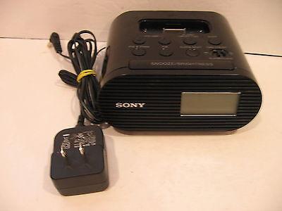 Sony ICF-C05iP Alarm Clock FM Radio and Charging Dock for iPod iPhone Black