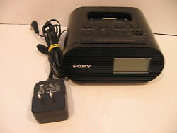 Sony ICF-C05iP Alarm Clock FM Radio and Charging Dock for iPod iPhone Black Used
