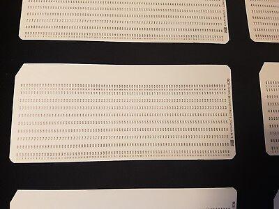 alte IBM Computer Lochkarten-, 60er / 70er Jahre (Lochkarten)