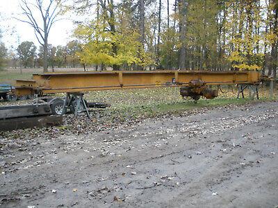 Acco Louden Wright Under Hung 5 Ton Overhead Bridge Crane. 40 Bridge.
