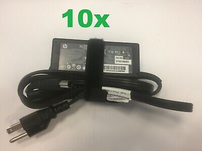 Lot of 10 Genuine HP 65W ProBook Laptop Power AC Adapter Chargers w/ Cables ()