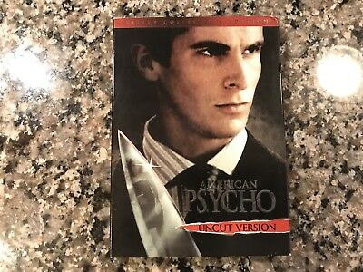 American Psycho Dvd! 2000 Slasher! Also See The Devils Rejects & Halloween - The Movie Halloween H20