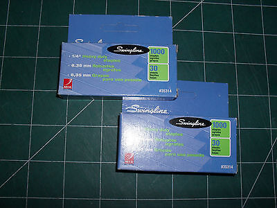 Lot Of 2 Swingline S.f. 13 Heavy Duty 14 Staples 1000 Per Box 35314
