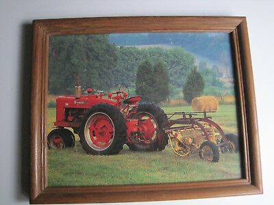 International Harvester M Tractor New Holland Side Delivery Rake Framed Photo