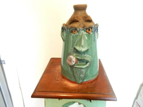 dal burtchaell   face jug, folk art, pottery 10