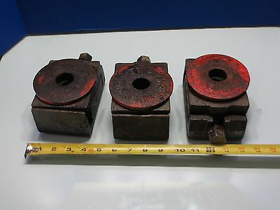 1990 Toyoda Fh-45 Cnc Horizontal Mill Leveling Legs Pads Block Leg Set Of 3