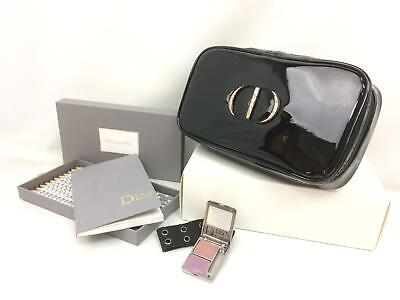 Christian Dior UNUSED Vanity Vinyl Pouch Pencil Set & used eye shadow 7L060890n